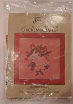 Needlepoint, Vintage Something Special Gingham ''CHRISTMAS BELLS'' - $9.97