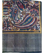 ADOLFO Long Paisley and Glen Plaid Silk Scarf - $11.99