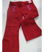NWT Gymboree Peruvian Doll Red Cords Pants Sz 7 New  - $16.00