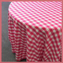 Round 120 inches Tablecloth Checker Polyester B... - $41.14