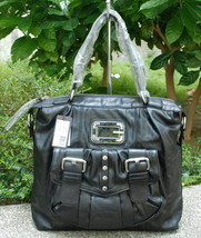 GUESS Electra BIG Satchel Bag Purse Black NWT - $39.99