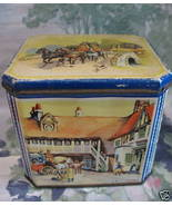 Vintage C.W.S. CRUMPSALL and CARDIFF Biscuit Cookie Tin Souvenir Collect... - $29.95