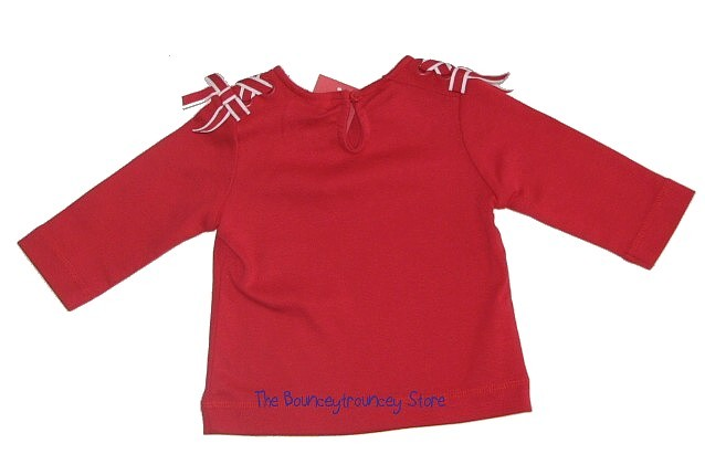 NWT Gymboree Holland Days Red Bow Ribbon Top 3-6 Mths