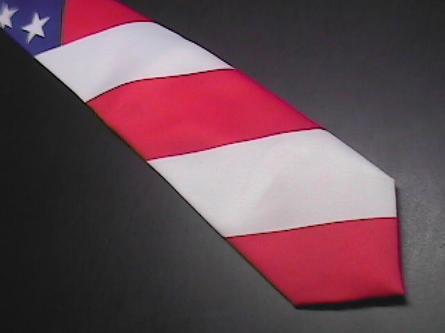 Ralph Marlin Neck Tie The Flag 1991 Red White Blue image 4