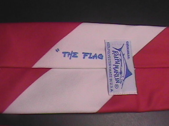Ralph Marlin Neck Tie The Flag 1991 Red White Blue image 2