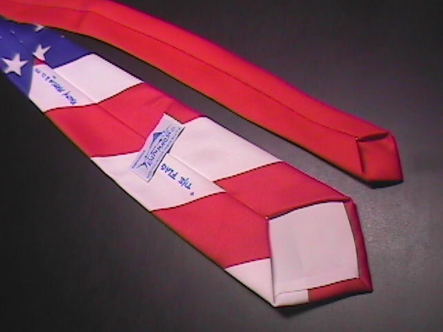 Ralph Marlin Neck Tie The Flag 1991 Red White Blue image 5