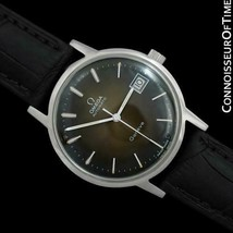 1975 OMEGA GENEVE Vintage Mens Brown Vignette Dial SS Steel Watch - Mint with Wa - $1,367.10