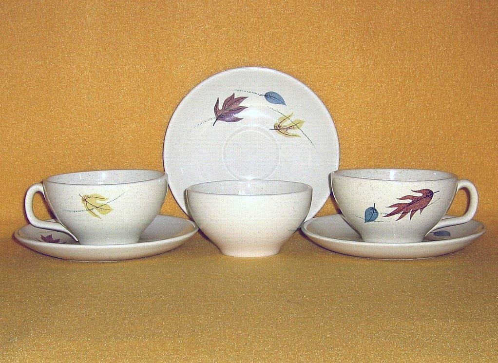 Franciscan China Autumn 3 Cup and Saucer Sets