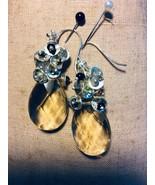 Artisan Citrine & Tourmaline SS Drop Earrings - $110.00
