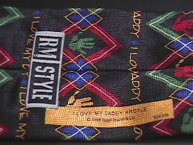 Ralph Marlin RM Style Neck Tie I Love My Daddy