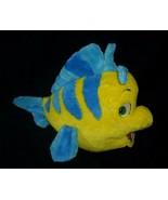 "11"" DISNEY LITTLE MERMAID FLOUNDER YELLOW & BLUE FISH STUFFED ANIMAL PLU... - $18.70"