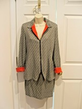 NEW IN PKG FREDERICK'S OF HOLLYWOOD Skirt& Jacket Suit Made USA  9/10 - $39.59