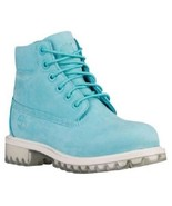 "TIMBERLAND A18SS YOUTH 6"" PREMIUM TEAL NUBUCK WATERPROOF INSULATED BOOTS - $76.49"