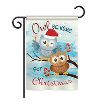 "Owl Xmas - 13"" x 18.5"" Impressions Garden Flag - G164004 - $19.97"