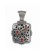 Gerochristo 3263 - Gold, Silver & Rubies Medieval Byzantine Filigree Pen... - $450.00
