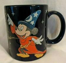Mug Mickey Mouse Fantasia Sorcerer Navy Blue, 8 oz.Walt Disney, 3.8 Inches Tall - $11.86