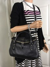 KATE SPADE Cobble Hill Small Leslie Black Soft Leather Cross Body Satche... - €185,21 EUR