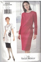 9922 Uncut Vogue-Schnittmuster Misses Lose Passform Gerade Top Rock Klei... - $9.98