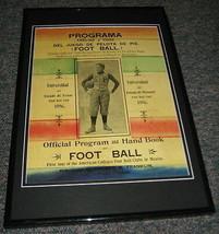 1896 Texas vs Missouri Football Mexico Framed 10x14 Poster Official Repro - $32.36