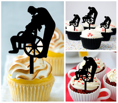 Decorations Wedding,Birthday Cupcake topper, wheelchair in love Package : 10 pcs - $10.00