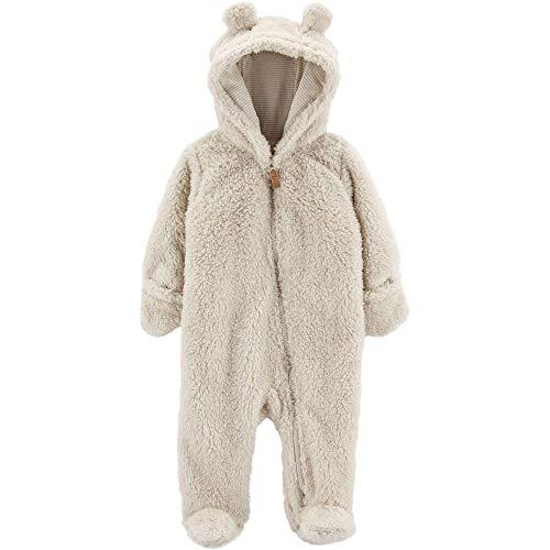 Carter's 0-9 Months Hooded Sherpa Bunting Pram Oatmeal, 3 Months