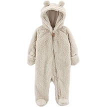 Carter's 0-9 Months Hooded Sherpa Bunting Pram Oatmeal, 3 Months - $31.56