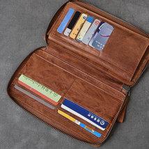 On Sale, Full Grain Leather Long Wallet, Handmade Card Holder Wallet, Long Clutc image 3
