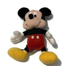 Disney Mickey Mouse Polyester Stuffed Animal Plush Doll Toy 10 Inches - $5.36