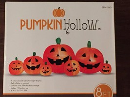 New Halloween 8 Foot Wide Pumpkin Patch Lighted Airblown Inflatable Yard... - $69.29