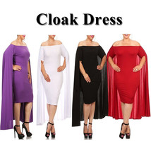 plus sized cape dress/baby shower dress/party dress at Bling Brides Bouquet - $49.99