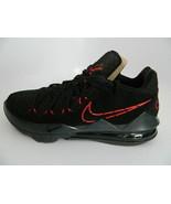 Nike Lebron XVII Low Black\University Red-Dark Grey Mens Basketball Shoe... - $139.99