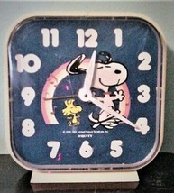 Vintage Peanuts Wind-up Equity Snoopy Alarm Clock 1965 Working - $45.00
