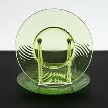 Spiral Green Luncheon Plates Set, Vintage Depression Glass Hazel Atlas 8... - $12.25