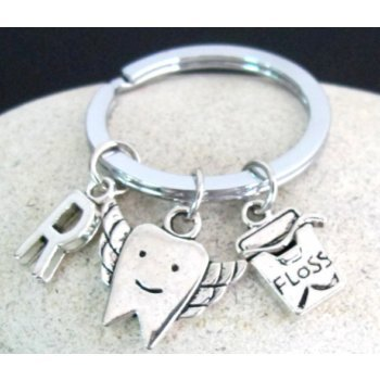 Primary image for Tooth Keychain Dentist Charm Keychain Dentist Gift Dental Hygiene Graduation Gif