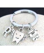 Tooth Keychain Dentist Charm Keychain Dentist Gift Dental Hygiene Gradua... - $9.60