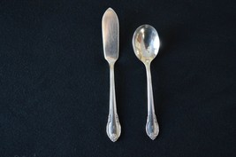 1847 Rogers Bros Remembrance 1948 Master Butter Knife & Sugar Spoon Mono W - $9.90