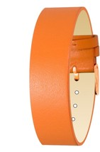 Moog Paris Orange Calf Leather Bracelet for Women, Shiny Pattern, Pin Cl... - $46.65