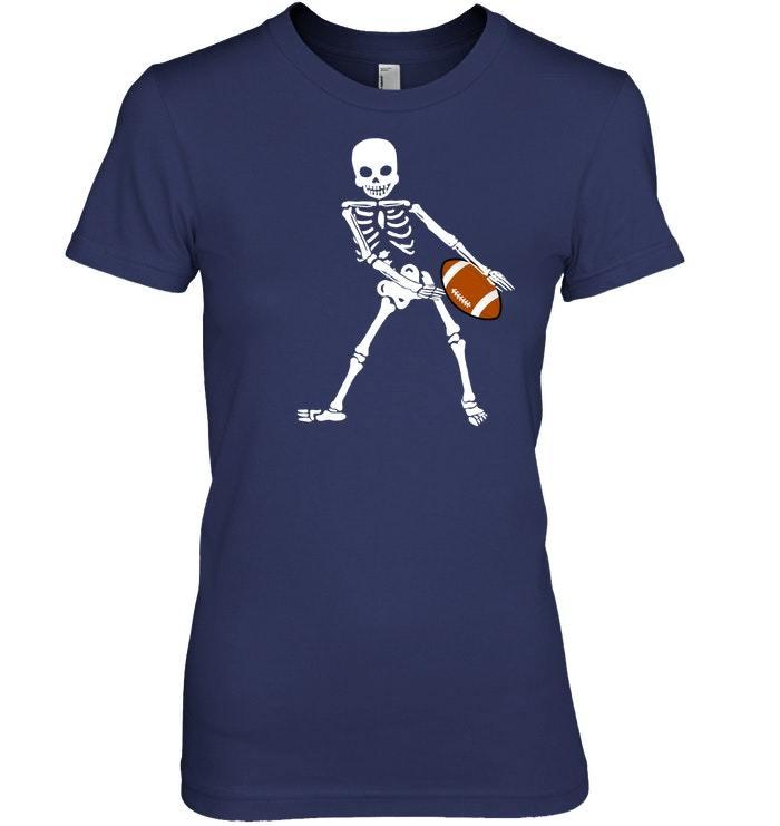 Flossing Skeleton Halloween Football Floss Dance Tshirt