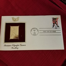Summer Olympic Games  Wrestling-1st day issue Gold Replica - New - $3.22