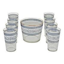 VTG Jeannette Glass Patrician Pattern Highball Glasses and Ice Bucket - ... - $135.00