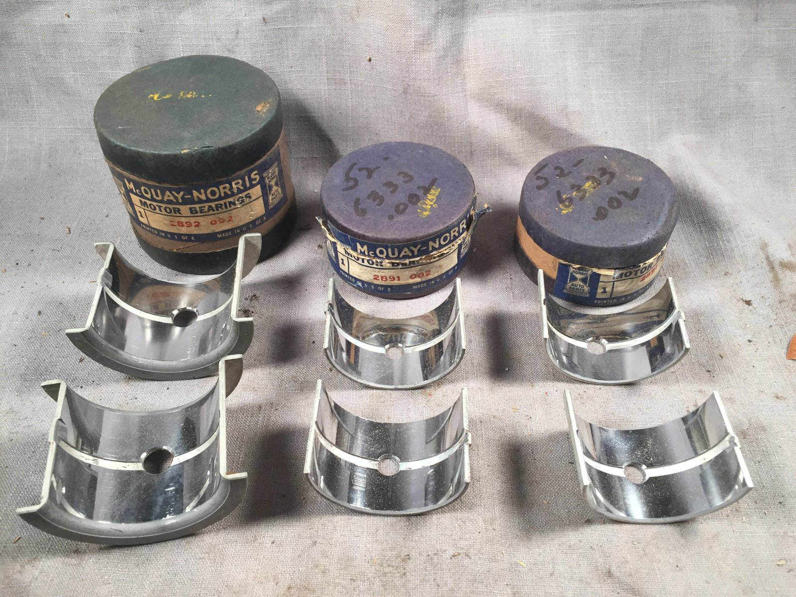 1947-1939 Ford 60 HP flathead main bearings and 50 similar items