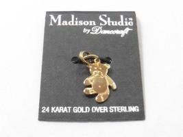 Vintage Danecraft  24KT Gold Over Sterling Silver 925 Teddy Bear Charm - $5.89