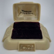 Art Deco Vintage Early Plastic Celluloid Ring Box Presentation Dennison ... - $39.55