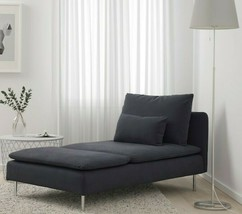 Ikea Soderhamn Samsta Dark Gray 1 Seat Section Chaise Slipcover Cover 902.351.79 - $86.82