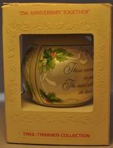Hallmark - 25th Anniversary Together - 1985 - Classic Ball Ornaments - $7.74