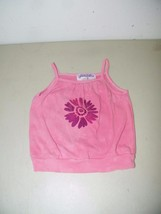 Hand Painted Dyed Girls Coral Flower Salmon Spaghetti Strap Tee Size 5T ... - $5.90