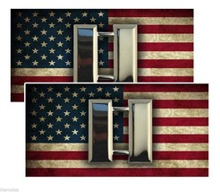 CAPTAIN AMERICAN FLAG BUMPER PACK OF 4 STICKER DECAL USA MADE - $22.55