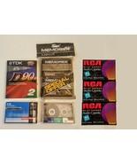 Blank Cassette Tape LOT of 9 Sealed Memorex MRXI Premium Oxide TDK 90 Mi... - $19.75