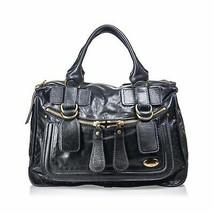 Pre-Loved Chloe Black Others Leather Bay Handbag France - $335.67