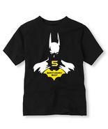 Batman Birthday Shirt, Personalized Batman Birthday Shirt with Age - $11.99